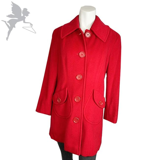 Item - Red Wool Blend Coat Size 6 (S)