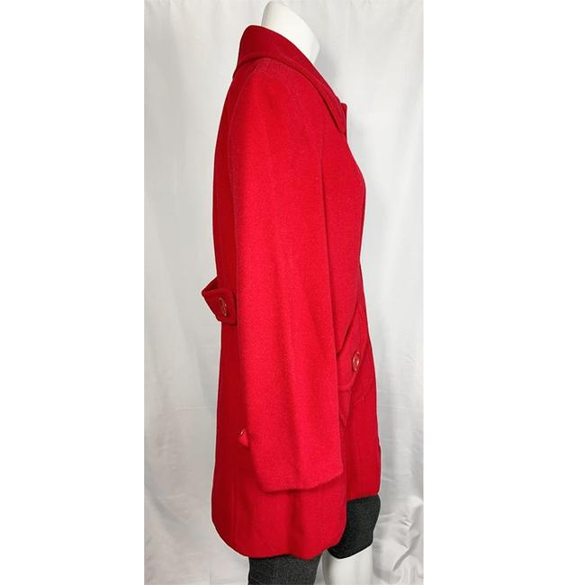 Marvin Richards Red Wool Blend Coat Size 6 (S) Marvin Richards Red Wool Blend Coat Size 6 (S) Image 2