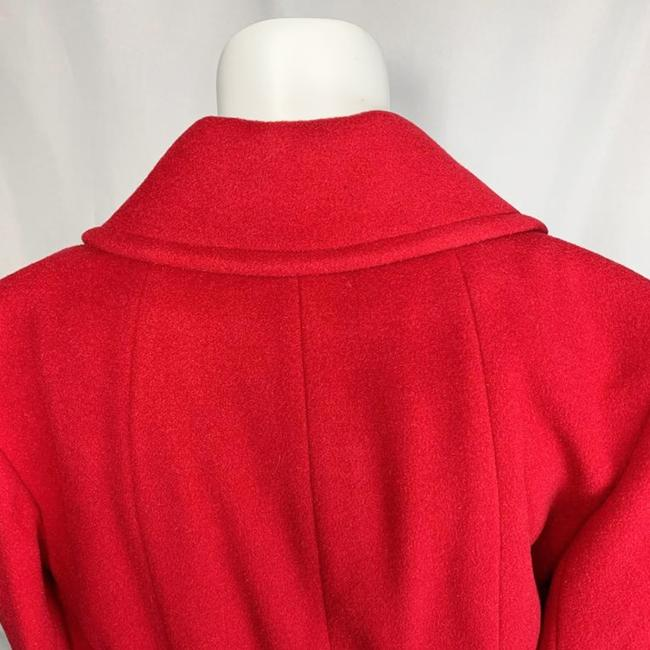 Marvin Richards Red Wool Blend Coat Size 6 (S) Marvin Richards Red Wool Blend Coat Size 6 (S) Image 3