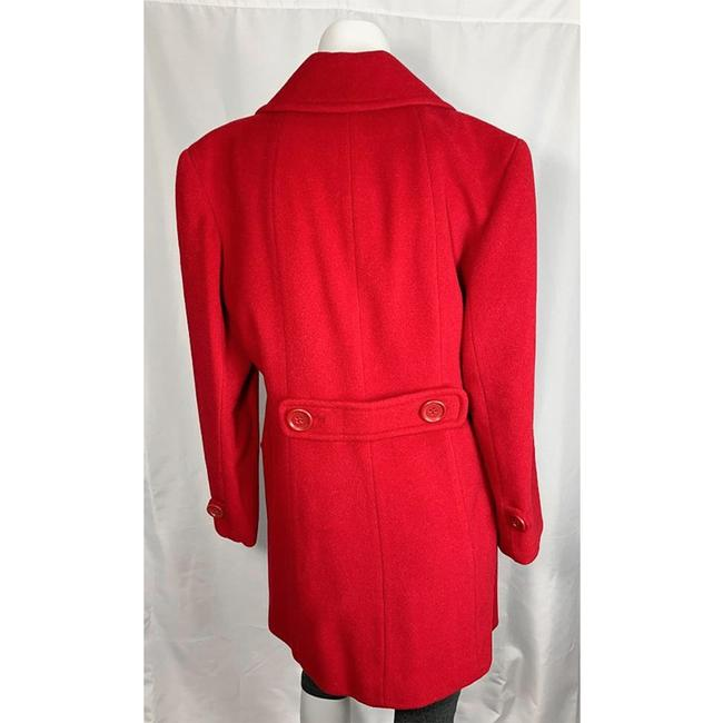 Marvin Richards Red Wool Blend Coat Size 6 (S) Marvin Richards Red Wool Blend Coat Size 6 (S) Image 4
