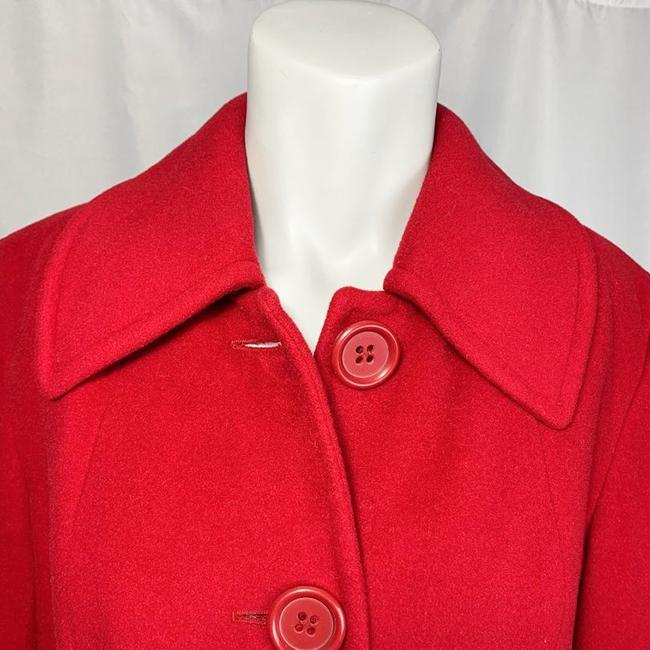 Marvin Richards Red Wool Blend Coat Size 6 (S) Marvin Richards Red Wool Blend Coat Size 6 (S) Image 5