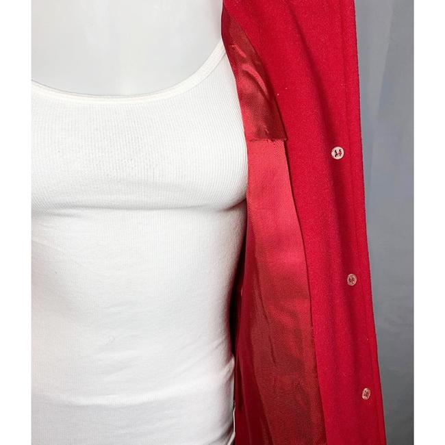 Marvin Richards Red Wool Blend Coat Size 6 (S) Marvin Richards Red Wool Blend Coat Size 6 (S) Image 6