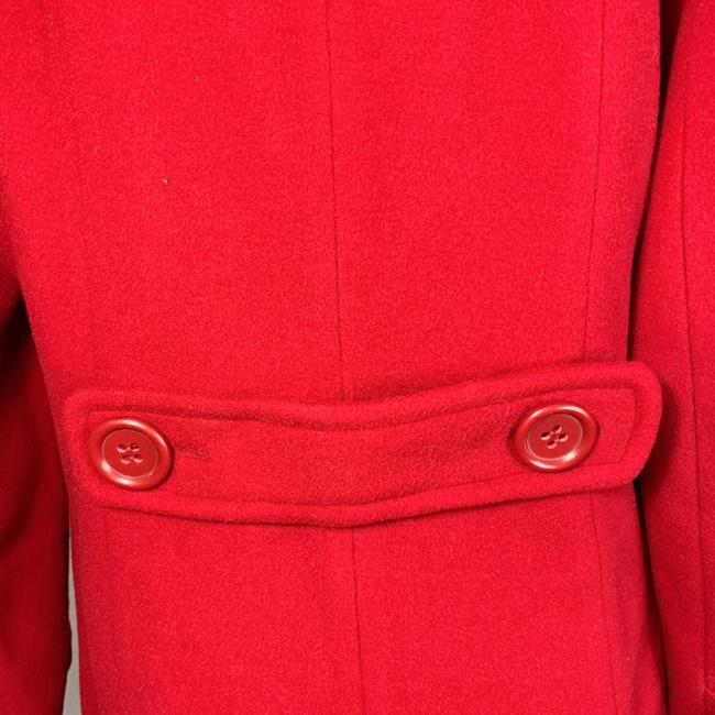 Marvin Richards Red Wool Blend Coat Size 6 (S) Marvin Richards Red Wool Blend Coat Size 6 (S) Image 7