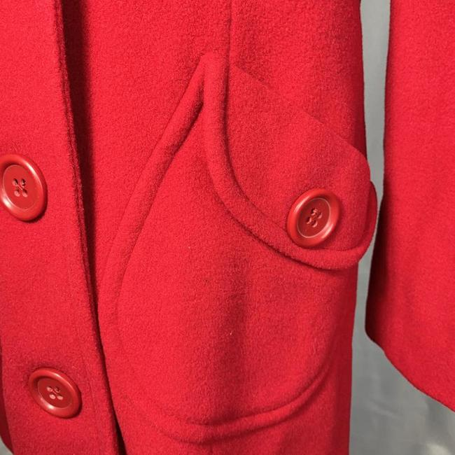 Marvin Richards Red Wool Blend Coat Size 6 (S) Marvin Richards Red Wool Blend Coat Size 6 (S) Image 8