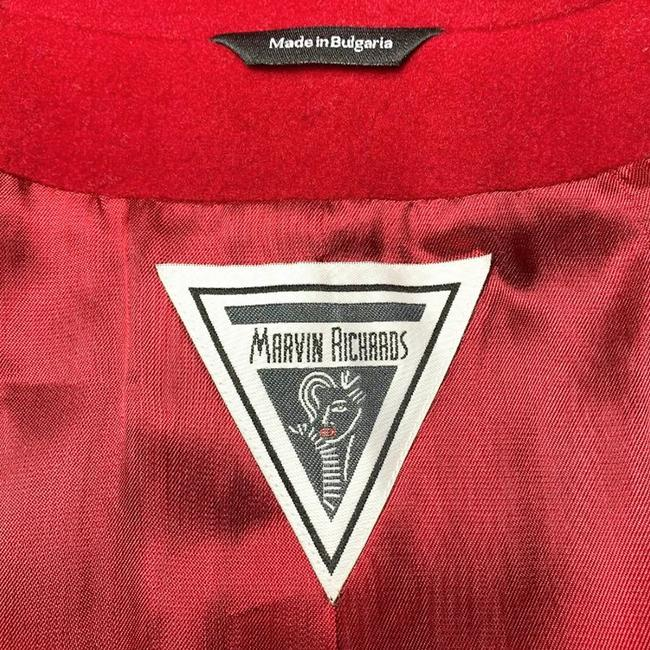 Marvin Richards Red Wool Blend Coat Size 6 (S) Marvin Richards Red Wool Blend Coat Size 6 (S) Image 9