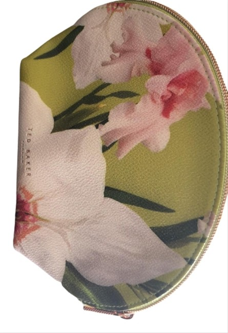 Item - Green Pink and White Makeup Cosmetic Bag