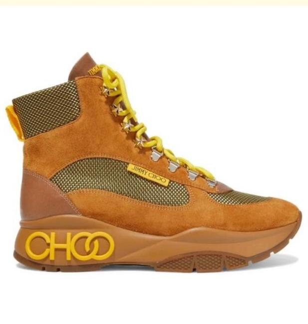 Item - Tan Neon Lace Chunky Sneaker Boots/Booties Size US 7 Regular (M, B)