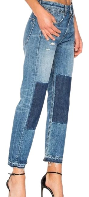 Item - Blue Distressed Marilyn Straight Leg Jeans Size 4 (S, 27)