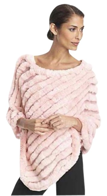 Item - Pale Pink Bcbgeneration Rabbit Fur Top Poncho/Cape Size OS (one size)