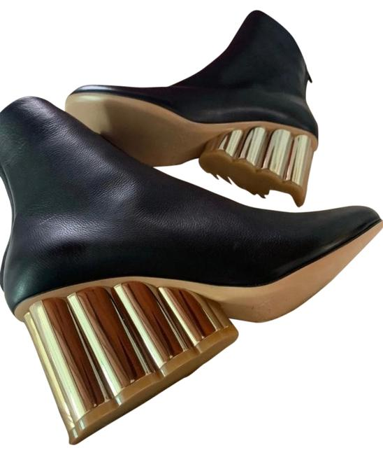 Item - Black and Gold Sarsina Boots/Booties Size US 11 Wide (C, D)