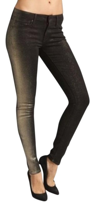 Item - Gold/Brown Coated The Looker Skinny Jeans Size 28 (4, S)