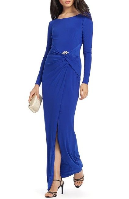 Item - Blue Crystal Detail Gown Long Formal Dress Size 2 (XS)