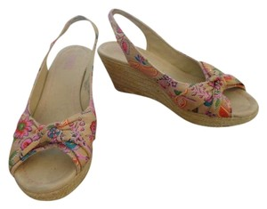 Mossimo Supply Co. Floral Sandal Wedges