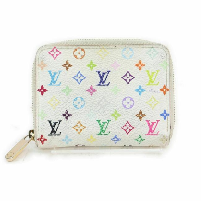 Item - White Zippy Coin Purse Multicolor Wallet Compact Zip Around 861198