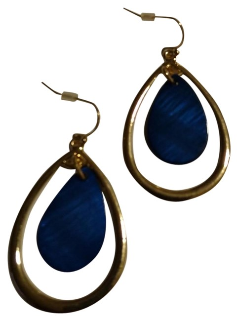 Item - Ocean Blue Dangle & Drop Treasure Earrings