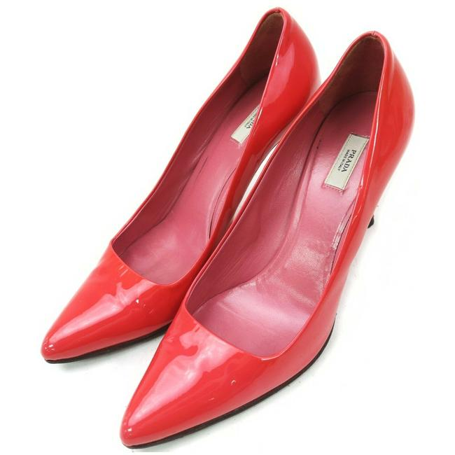 Item - Red Patent Leather Heels 861261 Pumps Size EU 35.5 (Approx. US 5.5) Narrow (Aa, N)