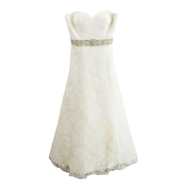 Item - Ivory Lace Strapless Sweetheart Bridal Gown #102-1 Traditional Wedding Dress Size 8 (M)