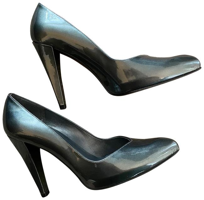 Item - Gray Grey Silver Platinum Pointed Pumps Size US 7 Regular (M, B)