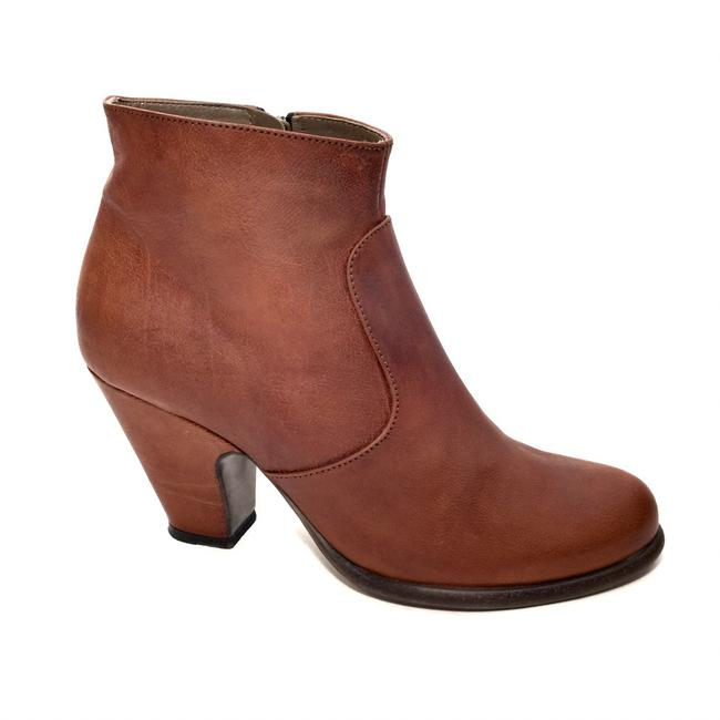 Item - Brown Leather Zip Up Boots/Booties Size EU 40 (Approx. US 10) Regular (M, B)