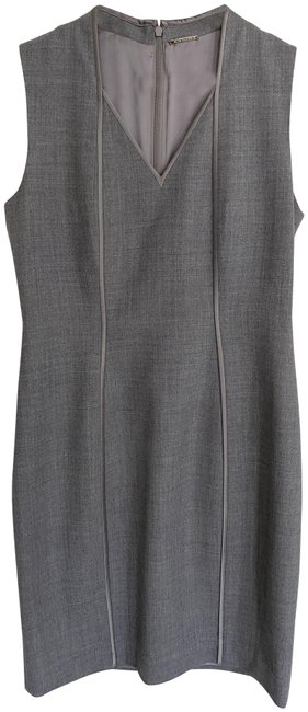 Item - Grey Wool Mid-length Work/Office Dress Size 6 (S)