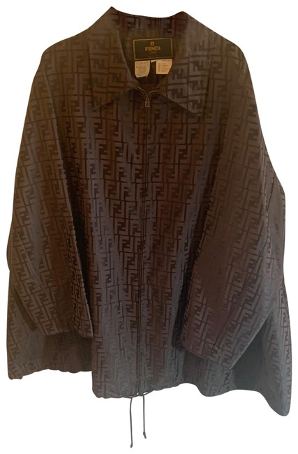 Item - Brown Zucca Print Coat Size OS (one size)