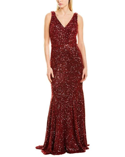 Item - Red Infusion Sequin Gown Long Formal Dress Size 8 (M)