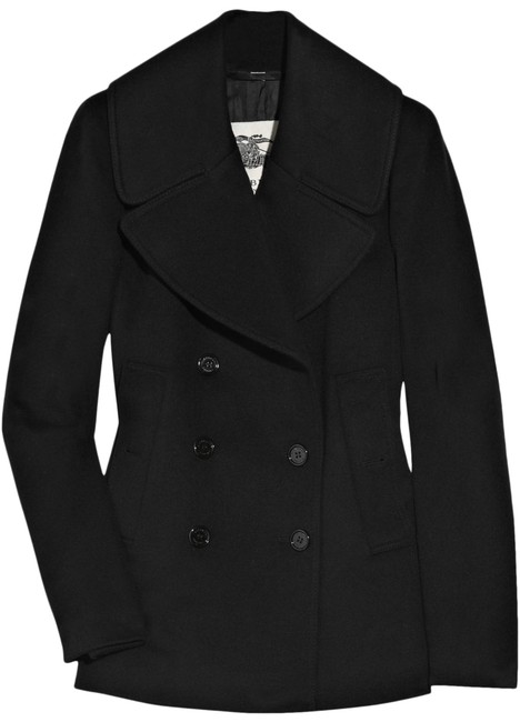 Item - Black Wool and Cashmere Blend Coat Size 2 (XS)