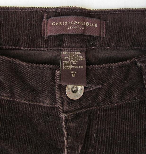 Christopher Blue Brown Stretch Corduroy Jeans Pants Size 8 (M, 29, 30) Christopher Blue Brown Stretch Corduroy Jeans Pants Size 8 (M, 29, 30) Image 7