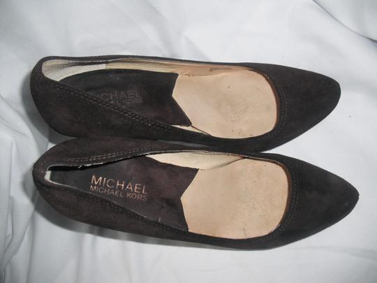 MICHAEL Michael Kors Chocolate Suede Leather Brown Pumps