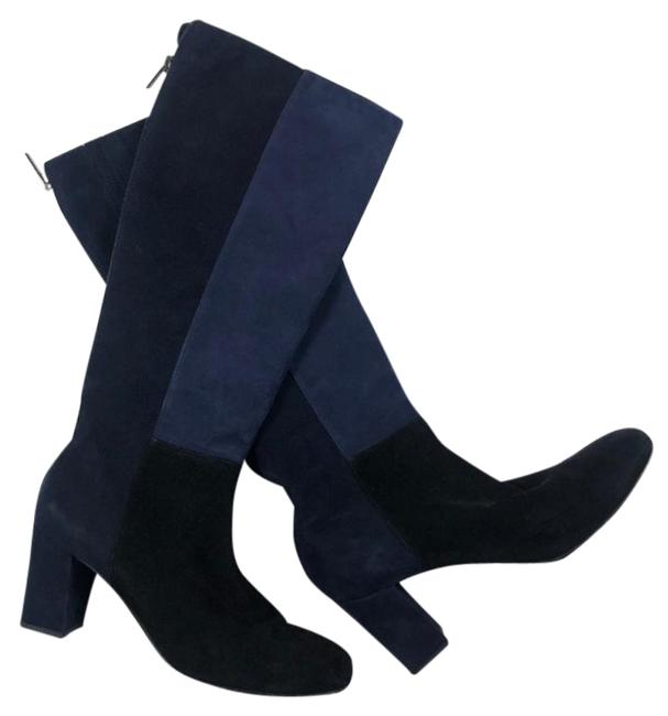 Item - Blue Suede Colorblock Knee High Boots/Booties Size US 8 Regular (M, B)