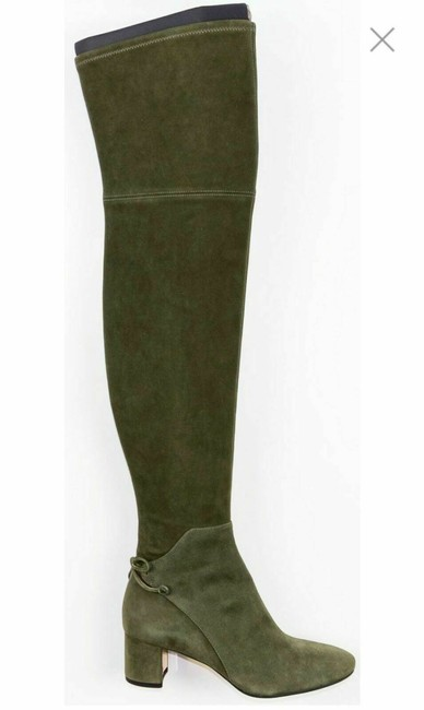 Item - Green Laila 45 Suede Bow Gold Reva Zip Over The Knee Boots/Booties Size US 9 Regular (M, B)