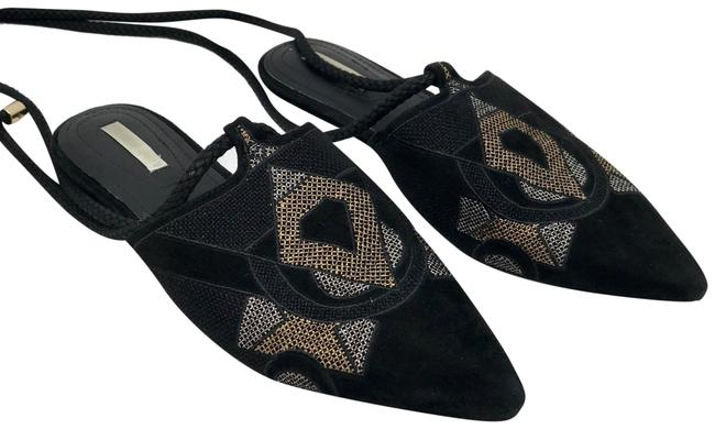 Item - Black Suede Pointed Toe Tribal Flats Size EU 40 (Approx. US 10) Regular (M, B)