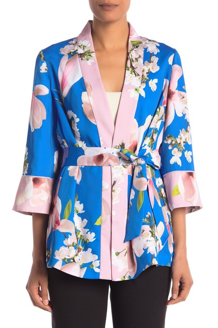 Item - Bright Blue Kimono Harmony Pleat Back Jacket Size 8 (M)