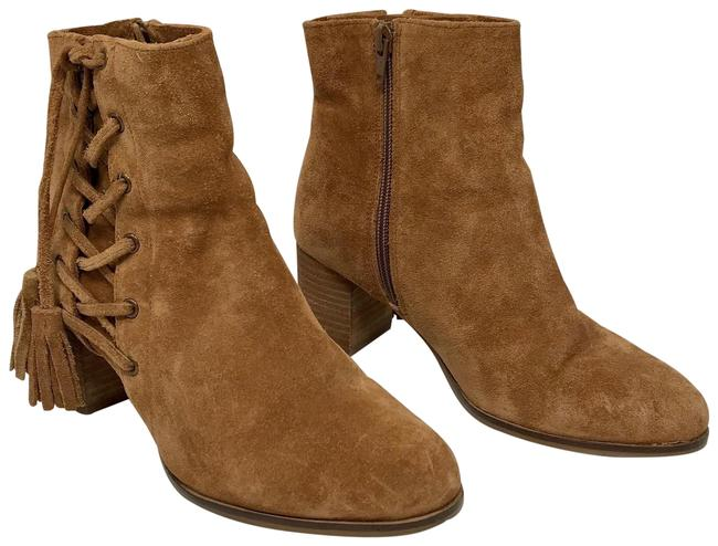 Item - Tan Suede Corset Ankle Boots/Booties Size US 8 Regular (M, B)
