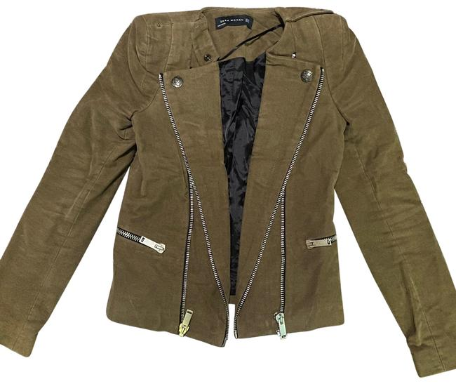 Item - Olive Green Woman Suede Zipper with Details Jacket Size 2 (XS)