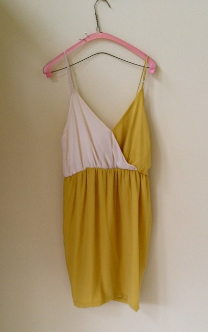 Peppermint short dress Cream and Gold on Tradesy