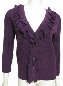 Van Heusen New Knit Sweater Women L With Tags 12 14 Buttoned Nwt Shirt 3/4 Sleeve Cardigan