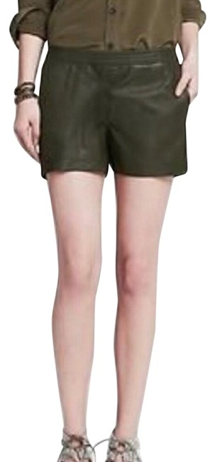 Item - Green Heritage Leather Shorts Size 4 (S, 27)