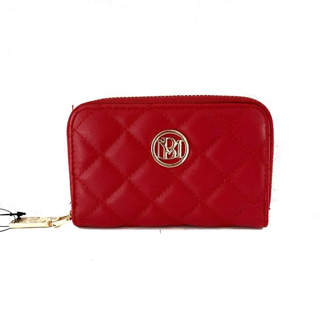 Item - Red Quilted Coin Purse Wallet