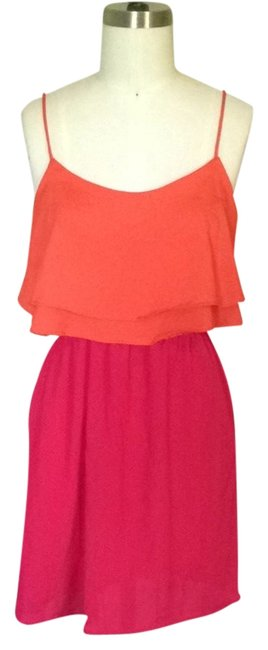 Preload https://item2.tradesy.com/images/orange-and-fuchsia-short-casual-dress-size-6-s-2812366-0-0.jpg?width=400&height=650