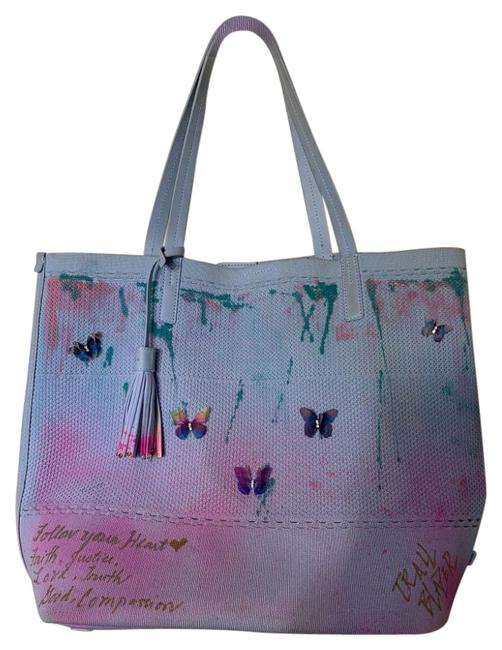 Item - Graffiti Bag W Customized and Applique Blue Pink Tote