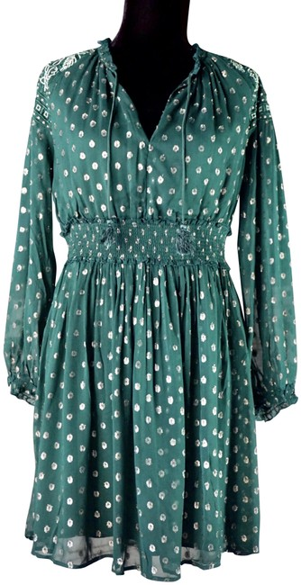 Item - Green Ranna Gill Hazell Embroidered Tunic New M Short Night Out Dress Size 8 (M)