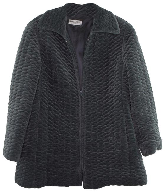 Item - Gray Textured Zippered Coat Maternity Outerwear Size 4 (S)
