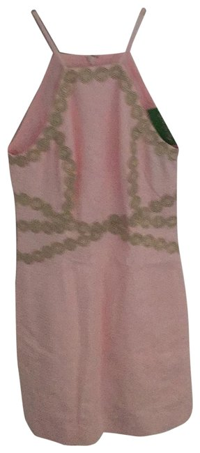 Item - Pink with Gold Trim Short Night Out Dress Size 00 (XXS)
