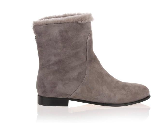 Item - Grey Mission Shearling Flat Suede Ankle Boots/Booties Size EU 36 (Approx. US 6) Regular (M, B)