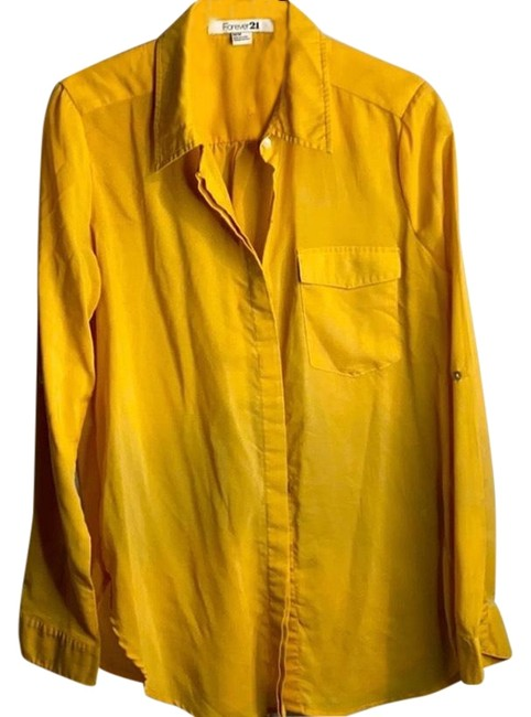 Item - Gold Button-down Top Size 10 (M)