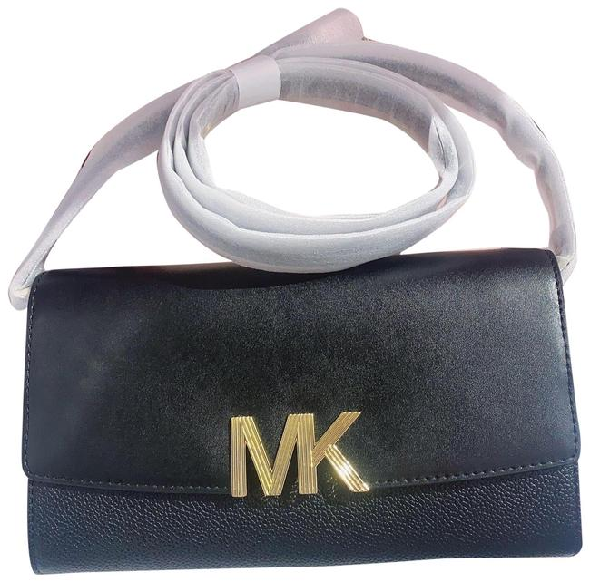 Item - Clutch Montgomery Convertible Black/Gold Leather Cross Body Bag
