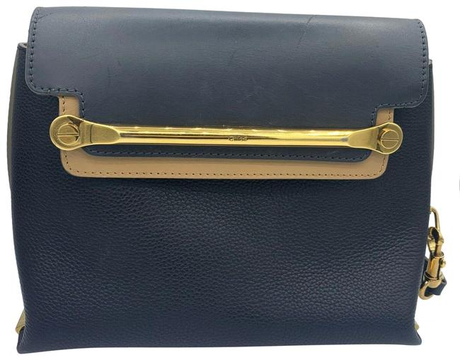 Item - Clare Tricolor Black Sand Leather Cross Body Bag