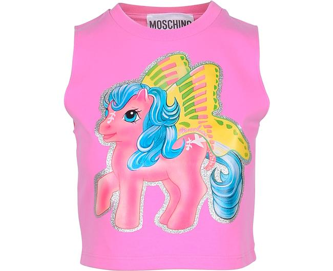 Item - Pink My Little Pony Cropped Tee Shirt Size 8 (M)