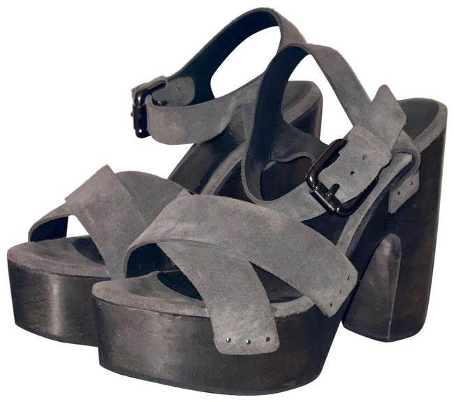 Item - Grey Rees Wedge Platforms Size EU 37 (Approx. US 7) Regular (M, B)